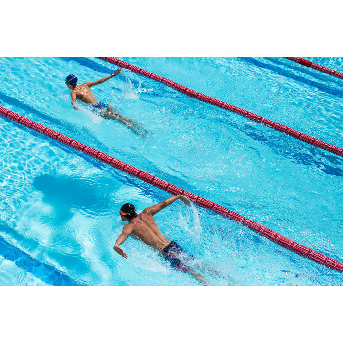 Maillot de bain de natation une pièce femme résistant au chlore Lidia bleu navy - 1204399