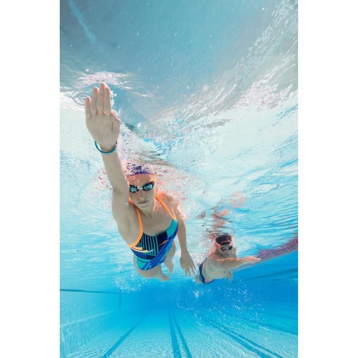 Maillot de bain de natation une pièce femme résistant au chlore Lidia bleu navy - 1204401