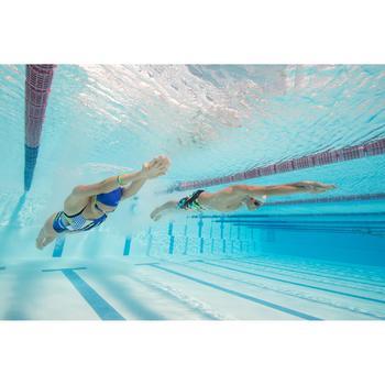 Maillot de bain de natation une pièce femme résistant au chlore Lidia bleu navy - 1204406