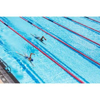 Maillot de bain de natation une pièce femme résistant au chlore Lidia bleu navy - 1204413