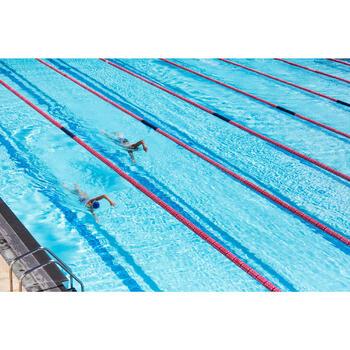 Maillot de bain de natation une pièce femme résistant au chlore Lidia bleu navy - 1204417