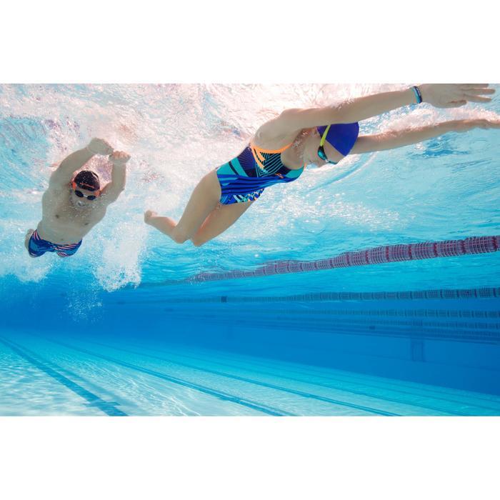 Maillot de bain de natation une pièce femme résistant au chlore Lidia bleu navy - 1204419