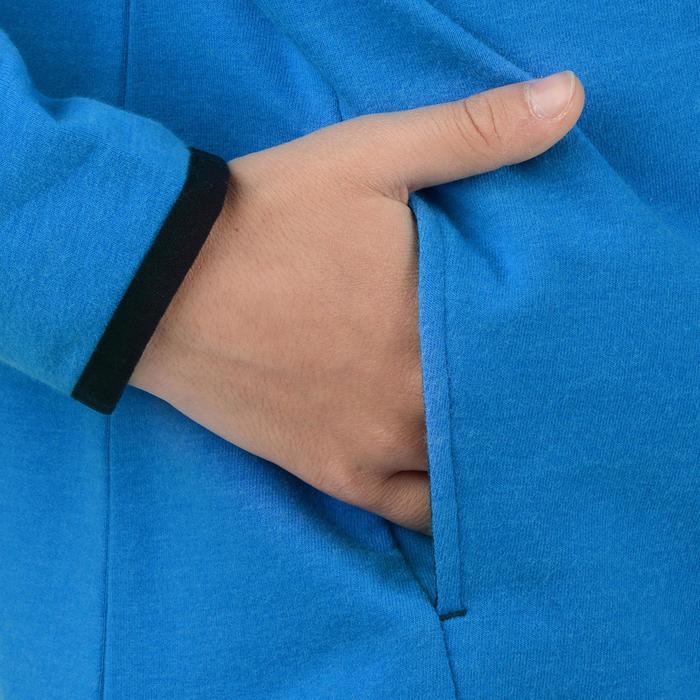 Veste 100 Gym garçon poches gris foncé - 1204423