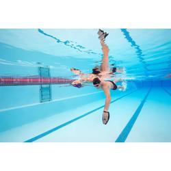 Zwempaddles met riem silicone 500 maat M grijs