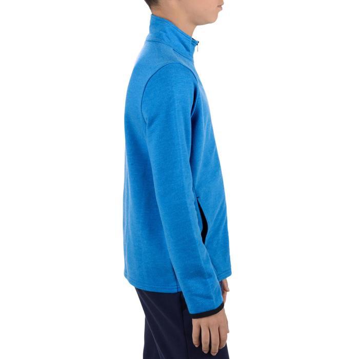 Veste 100 Gym garçon poches gris foncé - 1204492