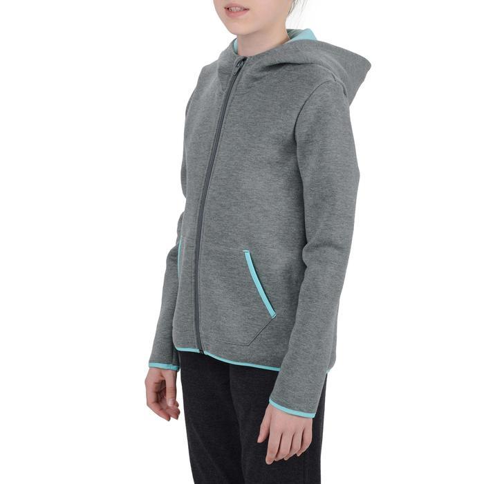 Veste chaude zippée capuche imprimé Gym fille - 1204505