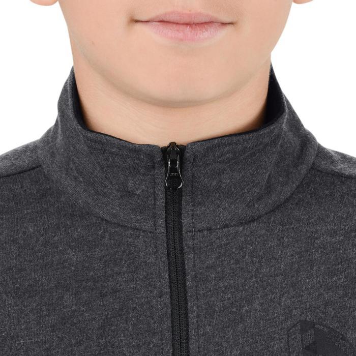 Veste 100 Gym garçon poches gris foncé - 1204510