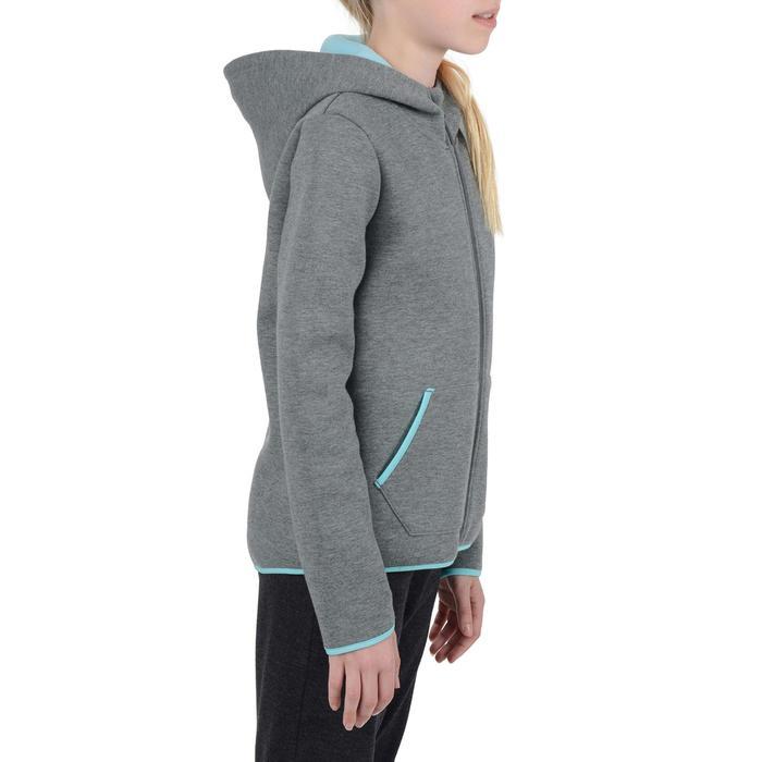 Veste chaude zippée capuche imprimé Gym fille - 1204533