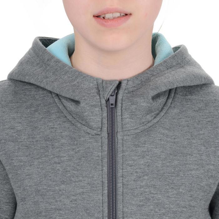 Veste chaude zippée capuche imprimé Gym fille - 1204553