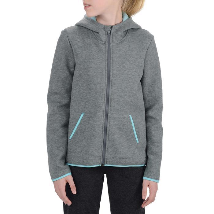 Veste chaude zippée capuche imprimé Gym fille - 1204561