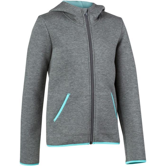 Veste chaude zippée capuche imprimé Gym fille - 1204567
