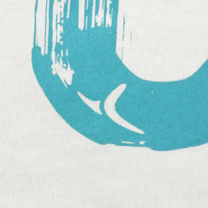 Camiseta de manga corta estampado gimnasia niño blanco