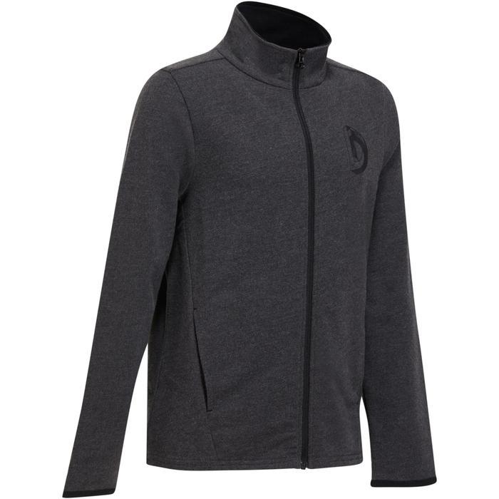 Veste 100 Gym garçon poches gris foncé - 1204570