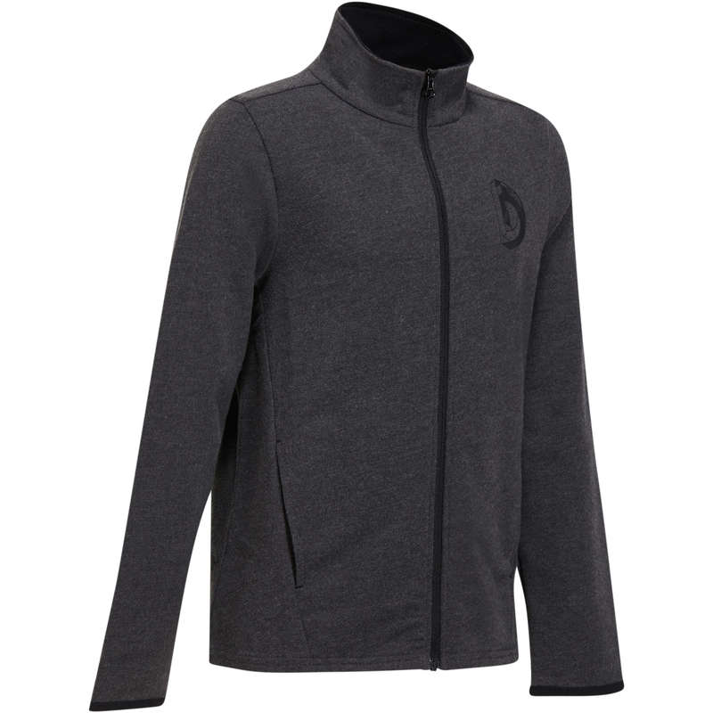 BOY EDUCATIONAL GYM COLD WEATHER APP - 100 Gym Jacket - Grey DOMYOS