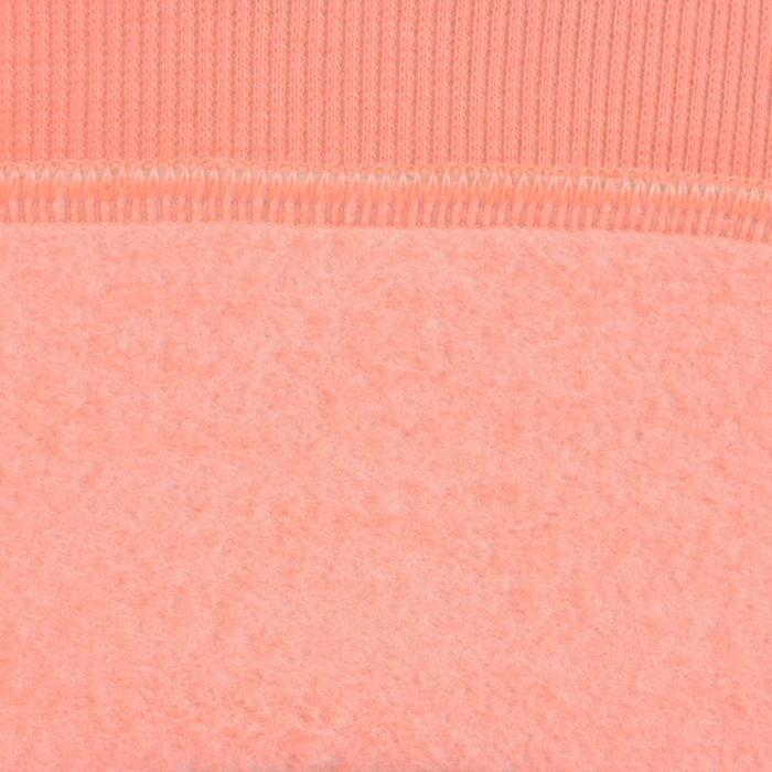 Sweat 500 Gym Fille capuche imprimé orange