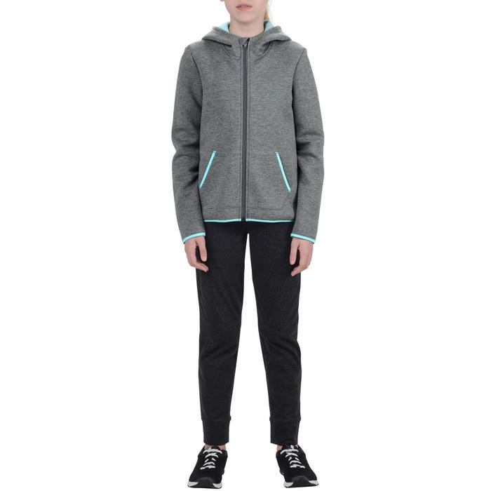 Veste chaude zippée capuche imprimé Gym fille - 1204582