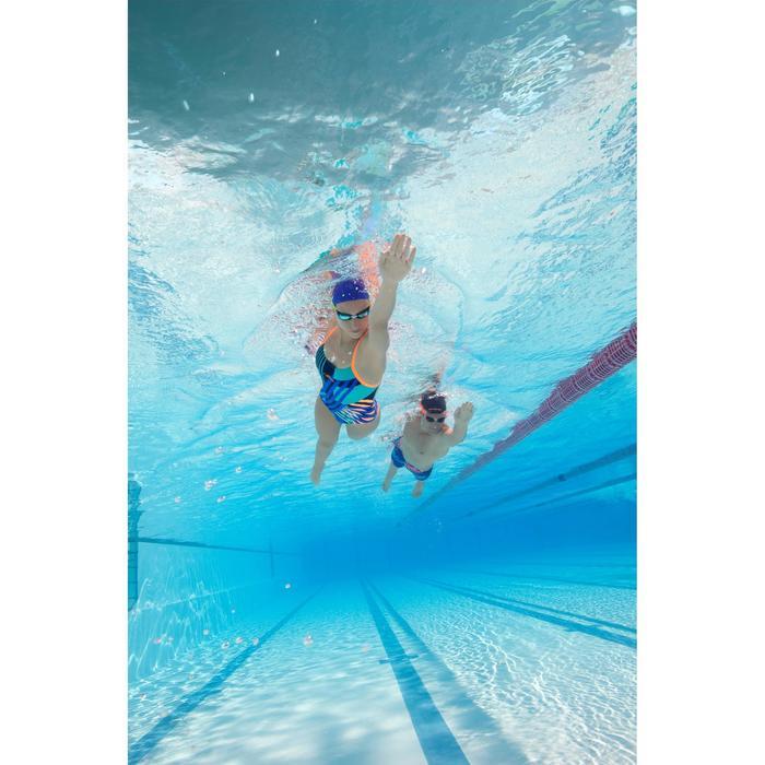 Maillot de bain de natation une pièce femme résistant au chlore Lidia bleu navy - 1204629