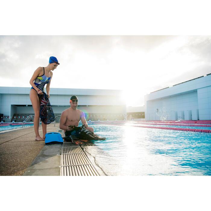 Maillot de bain de natation une pièce femme résistant au chlore Lidia bleu navy - 1204634