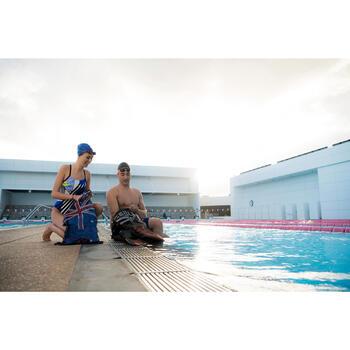 Maillot de bain de natation une pièce femme résistant au chlore Lidia bleu navy - 1204649
