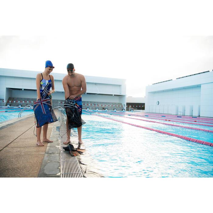 Maillot de bain de natation une pièce femme résistant au chlore Lidia bleu navy - 1204652