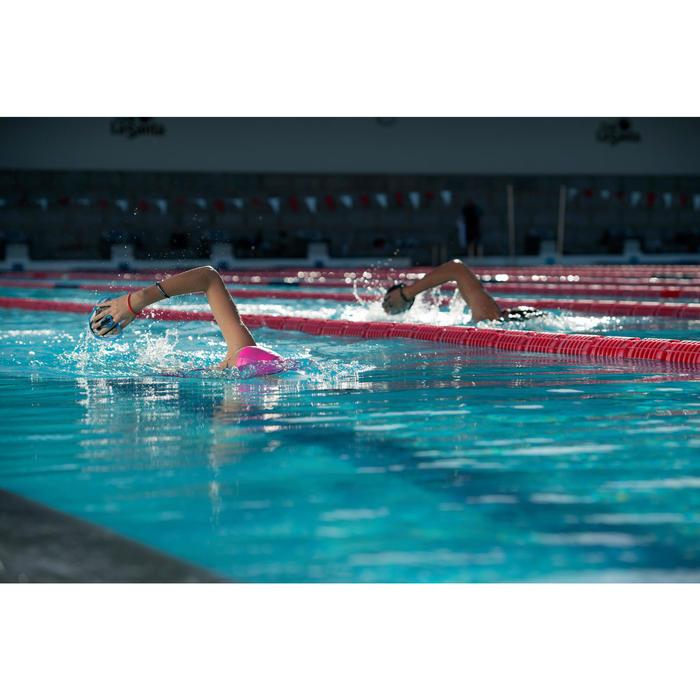 Schwimmpaddles Größe M grau