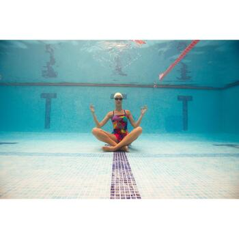 Maillot de bain de natation femme une pièce Riana pat orange