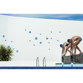 Maillot de bain de natation une pièce femme résistant au chlore Lidia bleu navy - 1204685