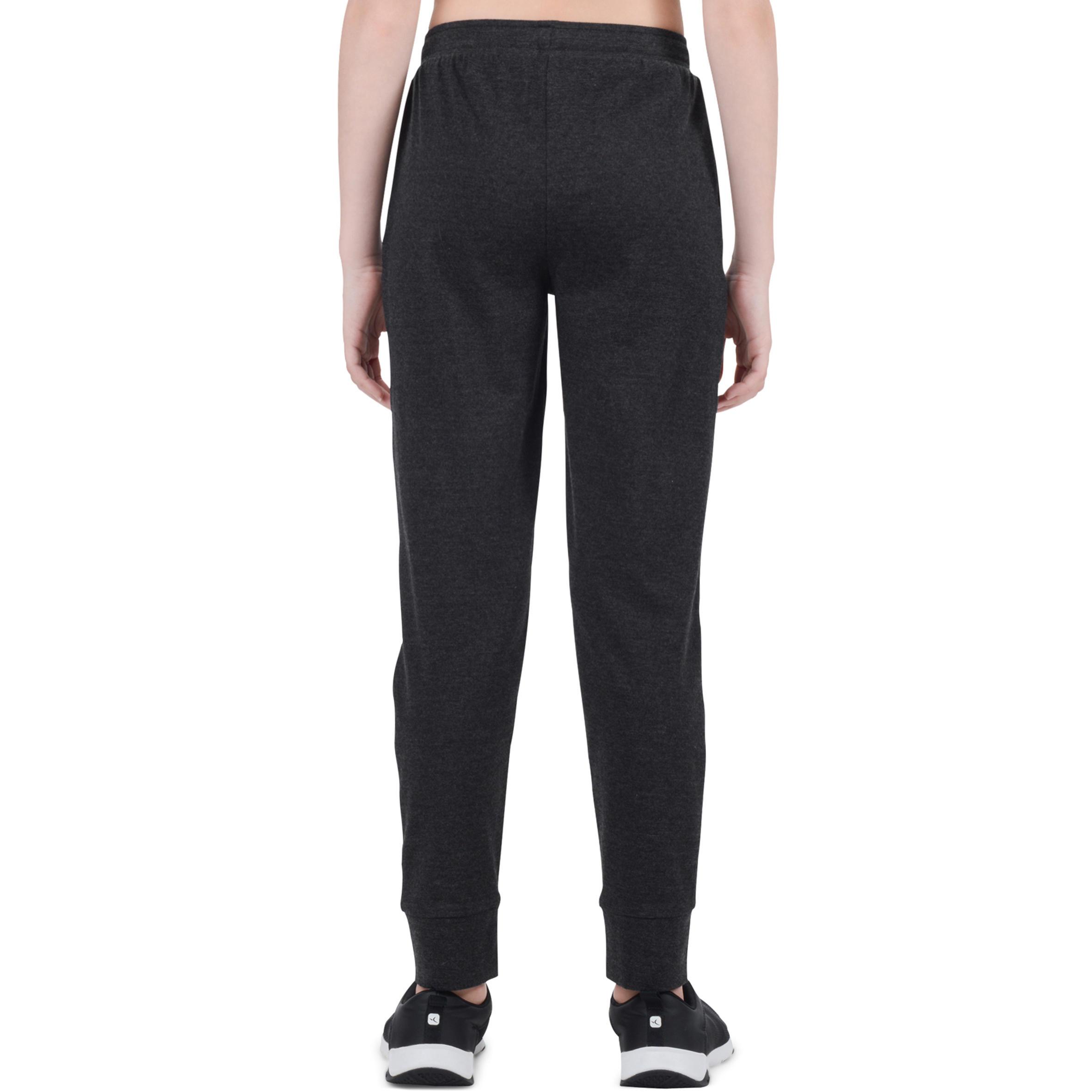 500 Girls' Lightweight Gym Bottoms - Dark Grey