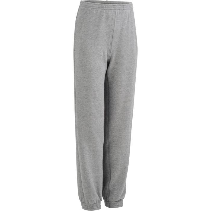 Warme gymbroek 120, regular fit, met zakken, voor jongens, grijs