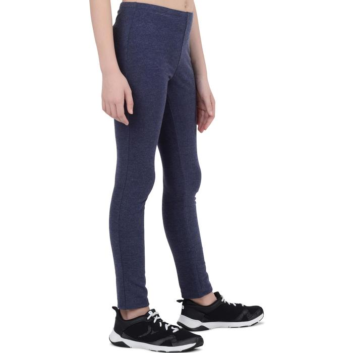 Legging chaud 100 Gym Fille bleu