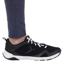 Leggings warm 100 Gym Kinder blau