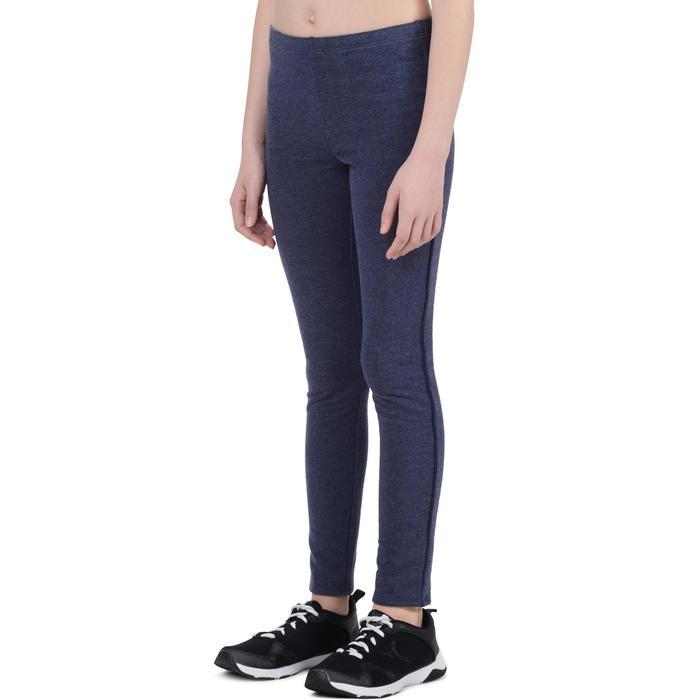 Warme gymlegging 100 voor meisjes blauw