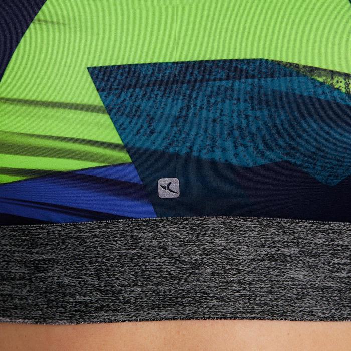 Brassière fitness cardio femme imprimés géométriques noirs 500 Domyos - 1204982