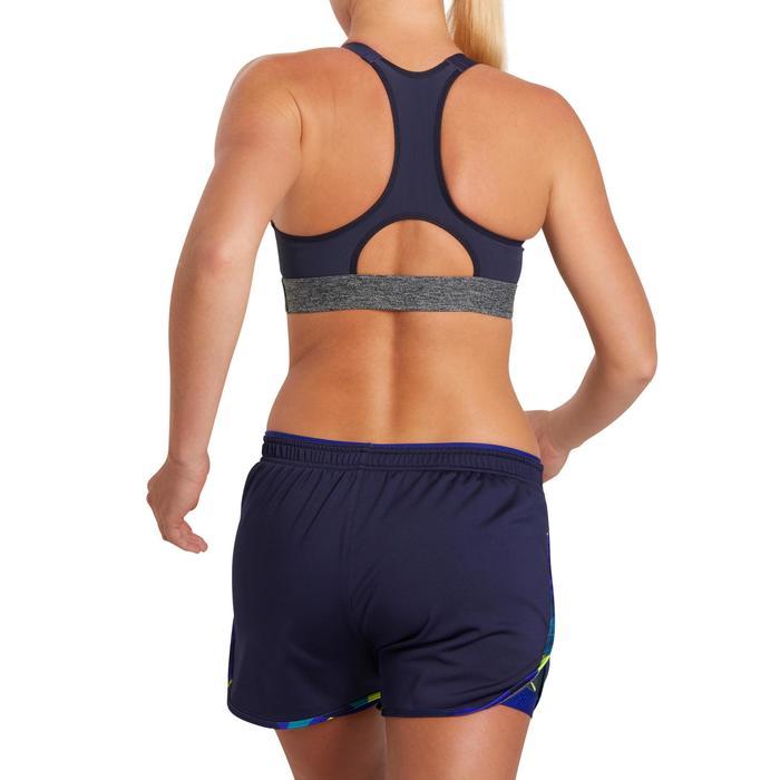 Brassière fitness cardio femme imprimés géométriques noirs 500 Domyos - 1204992