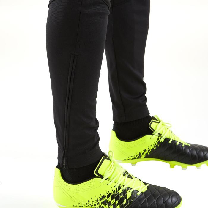 成人款足球長褲T500-黑色
