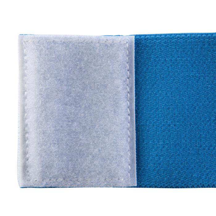 Omkeerbare bevestigingsband voor voetbal scheenbeschermer Fix it wit blauw
