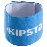 Venda de sujeción reversible para espinillera de fútbol Fix it blanco azul