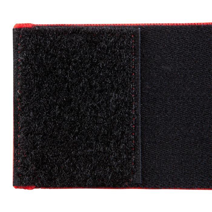 Vendas de sujeción reversible para espinilleras de fútbol Fix it negro rojo