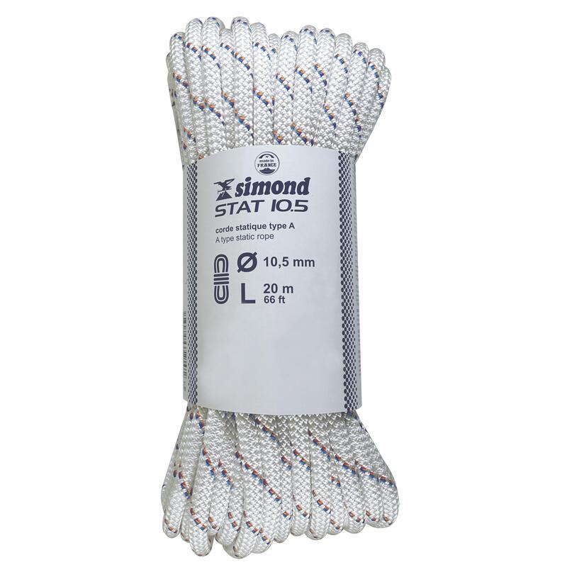 Corde Semi-Statique 10,5 mm x 20 m - STAT 10,5 Blanche