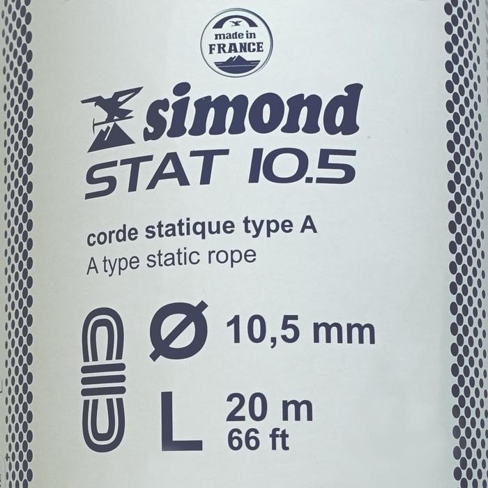 Corde Semi-Statique STAT 10,5mm x 20m