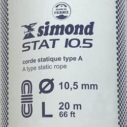 Cuerda semiestática STAT de 10,5 mm x 20 m