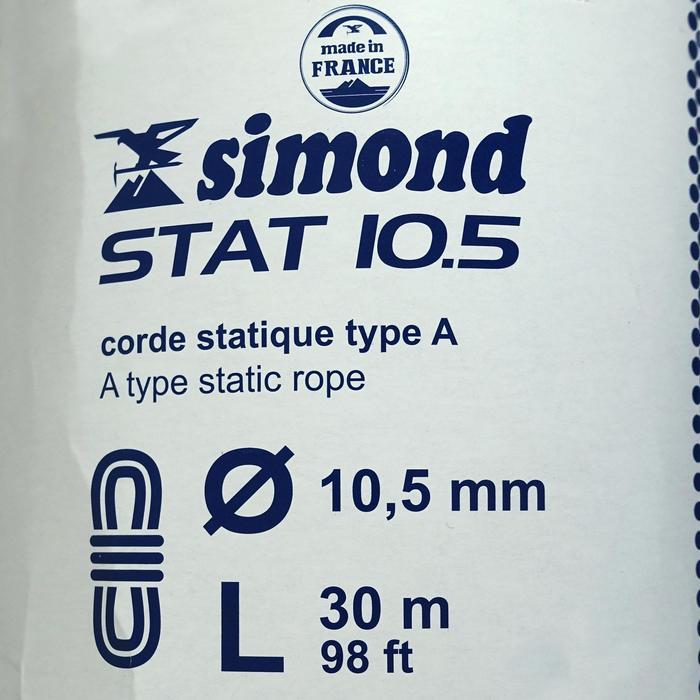 Semi-statisch touw 10,5 mm x 30 m Stat 10,5 wit