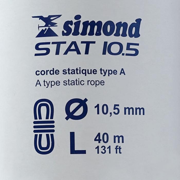 Cuerda semiestática STAT 10,5 mm x 40 m