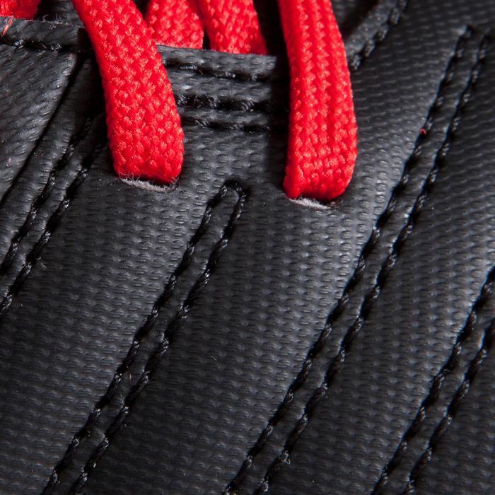 Chaussure de football enfant terrains secs First FG noire blanche - 1205245