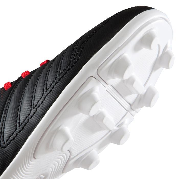 Voetbalschoenen Agility 100 FG voor droog terrein, kinderen, zwart wit