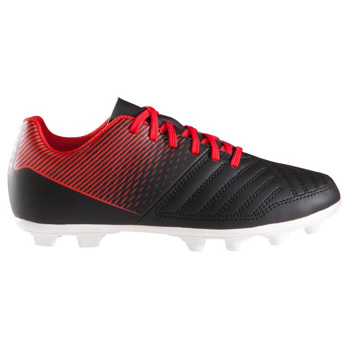 Chaussure de football enfant terrains secs First FG noire blanche - 1205265