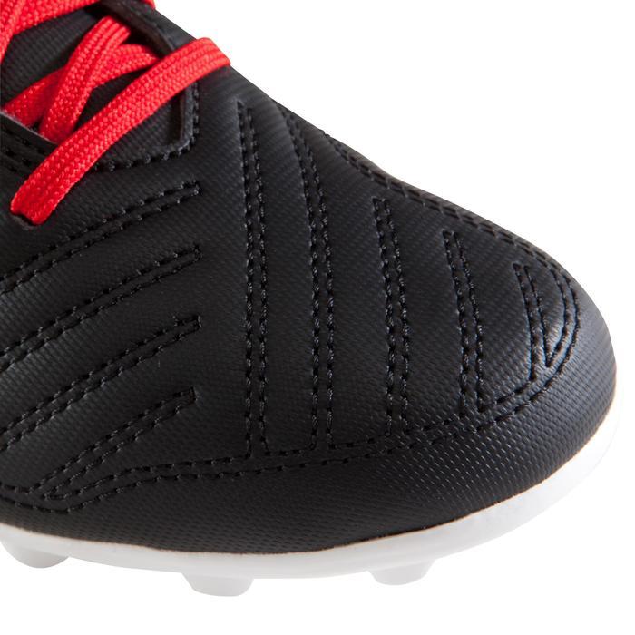 Chaussure de football enfant terrains secs First FG noire blanche - 1205269