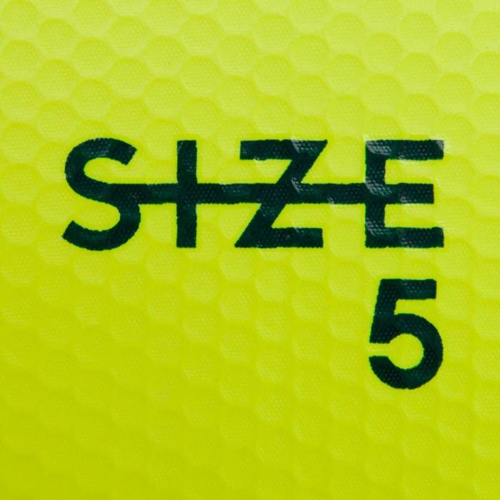 Ballon de football F500 hybride taille 5 jaune bleu