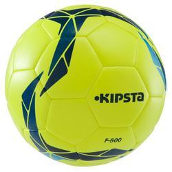 Balón de fútbol F500 Híbrido talla 5 amarillo azul 67dd50f7d90