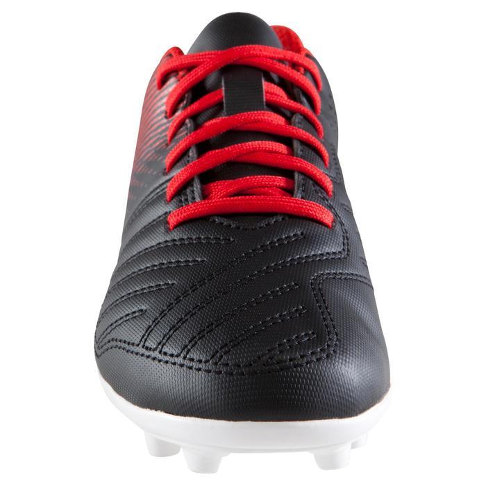 Chaussure de football enfant terrains secs First FG noire blanche - 1205279